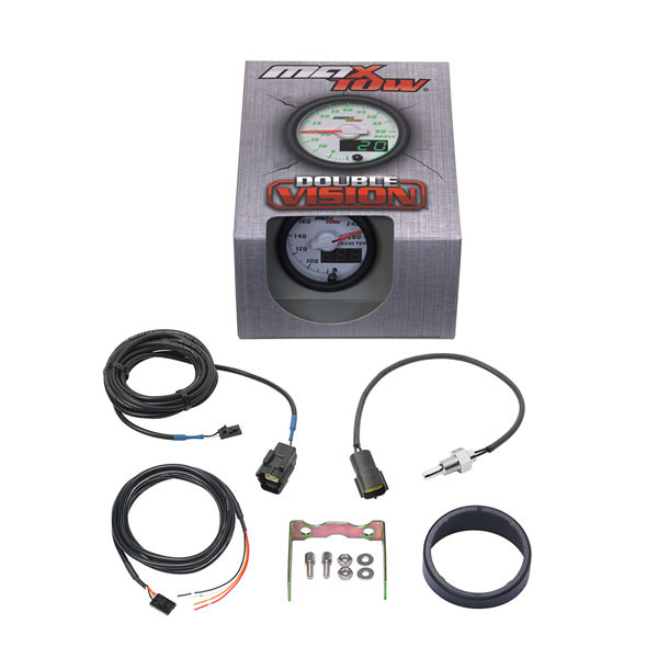 White & Green MaxTow 260° F Transmission Temperature Gauge Unboxed
