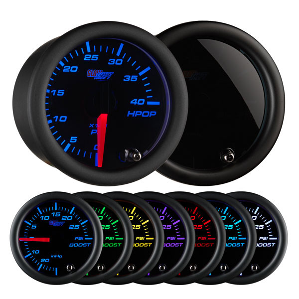 Tinted 7 Color High Pressure Oil Pressure HPOP Gauge