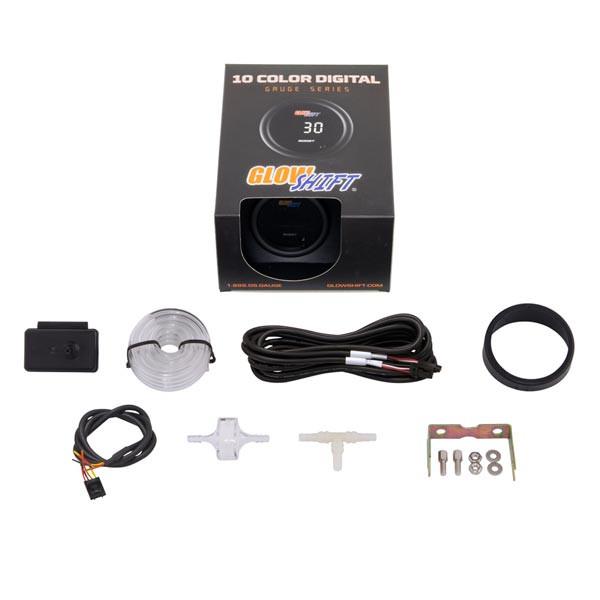 GlowShift Turbo 10 Color Digital Boost/Vacuum Gauge Unboxed