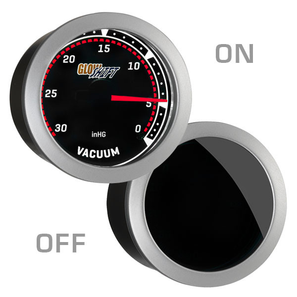 GlowShift Tinted Vacuum Gauge On/Off View