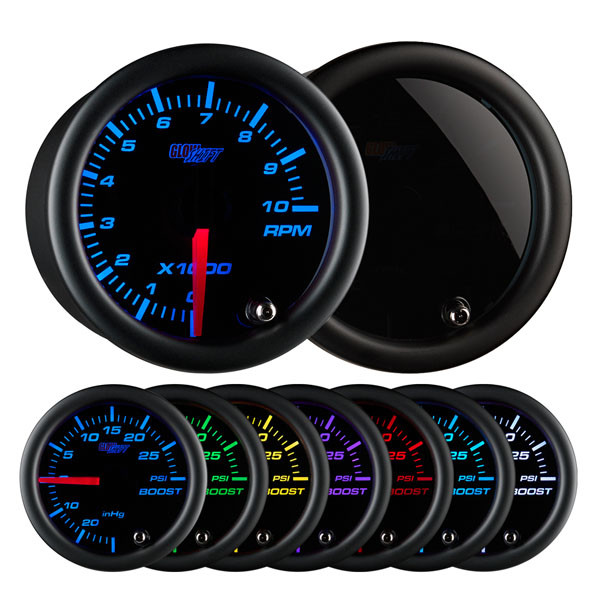 "Tinted 7 Color 2"" Tachometer Gauge"