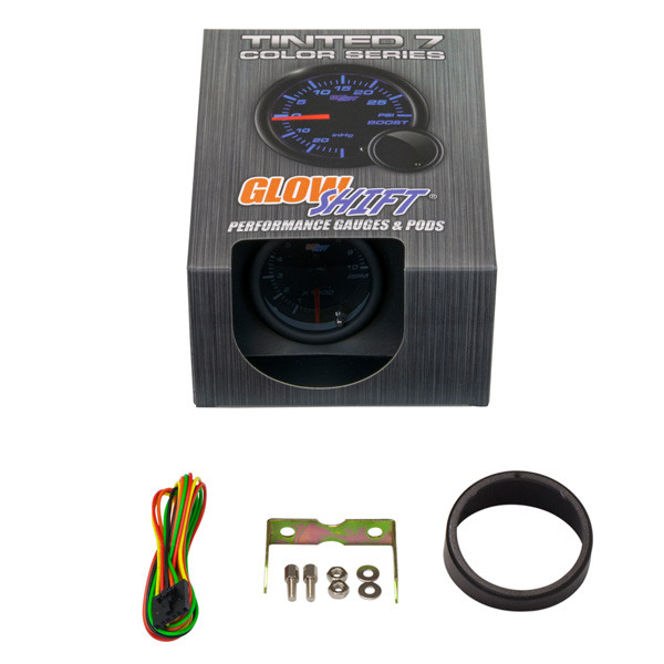 """GlowShift Tinted 7 Color 2"""" Tachometer Gauge Unboxed"""