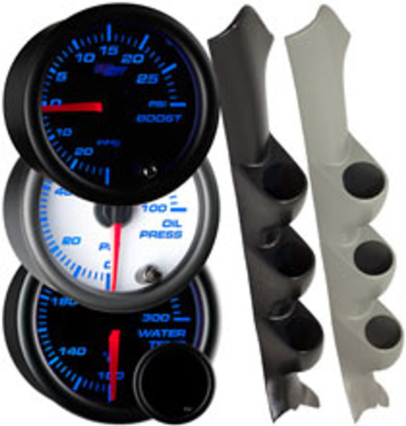 2002-2007 Subaru Impreza WRX Custom 7 Color Gauge Package Thumb
