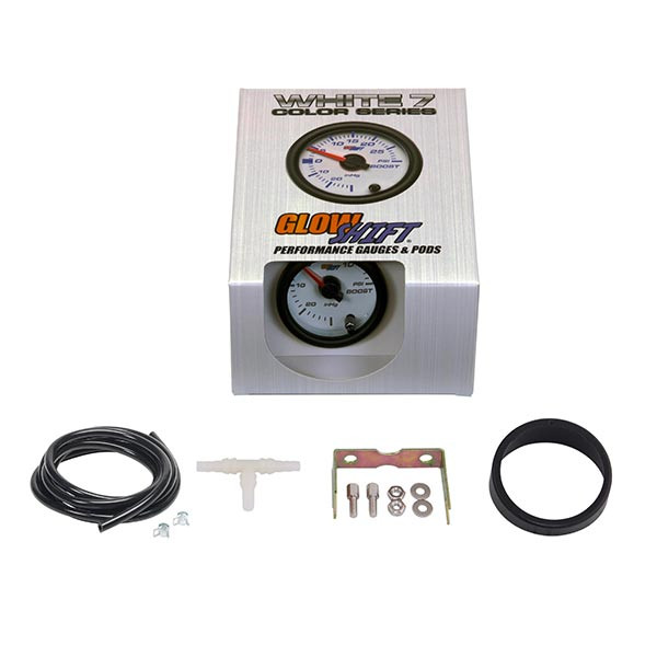 GlowShift White 7 Color 15 PSI Boost/Vacuum Gauge Unboxed