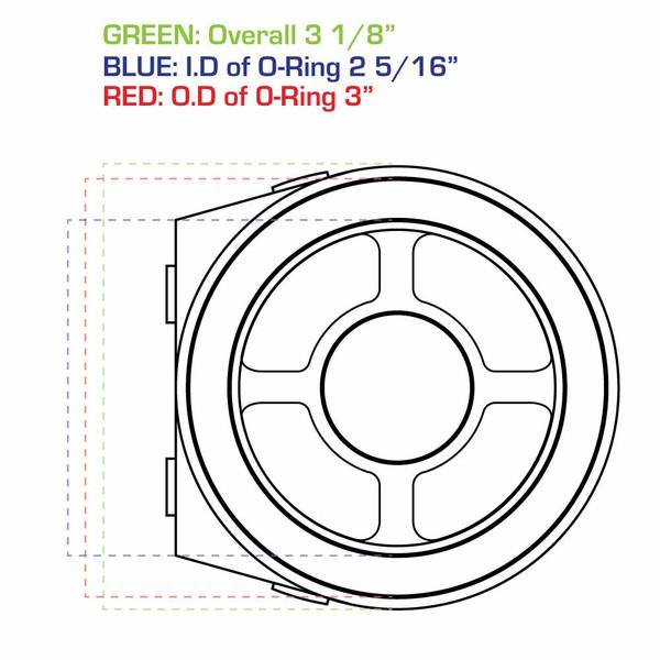 Oil Filter Sandwich Adapter Measurements