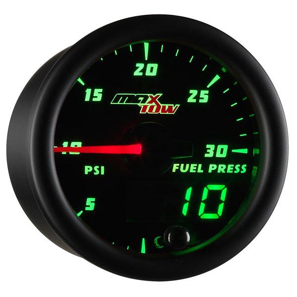 Black & Green MaxTow 30 PSI Fuel Pressure Gauge