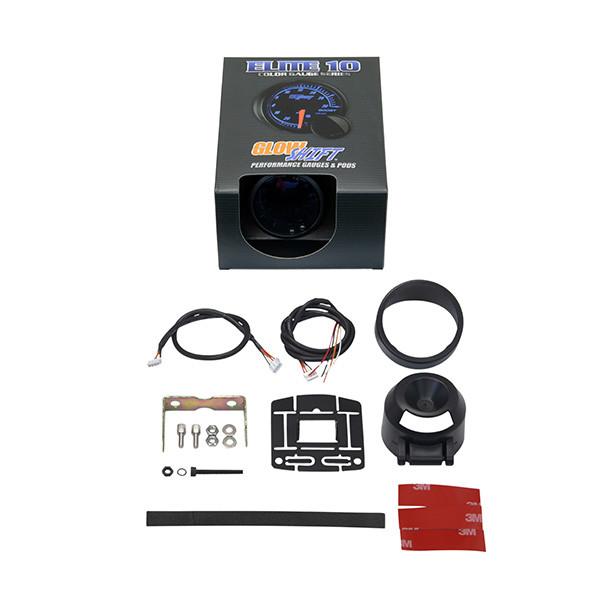 GlowShift Elite 10 Color Voltmeter Gauge Unboxed