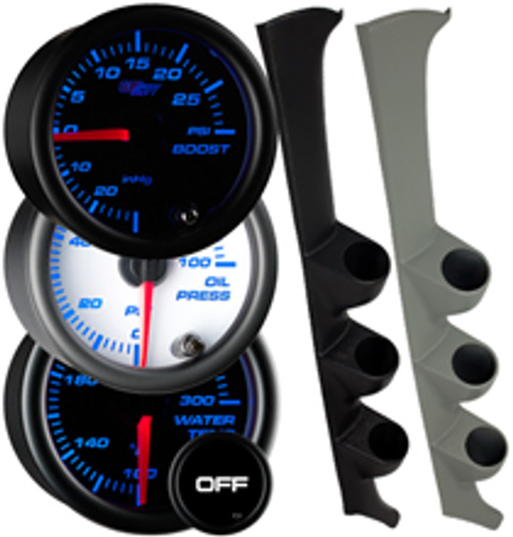 1994-2001 Acura Integra Custom 7 Color Gauge Package Gallery