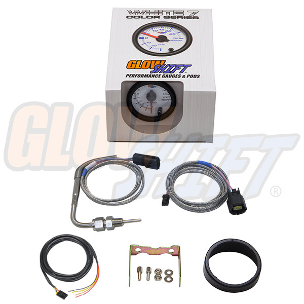 GlowShift White 7 Color 1500° F Pyrometer EGT Gauge Unboxed