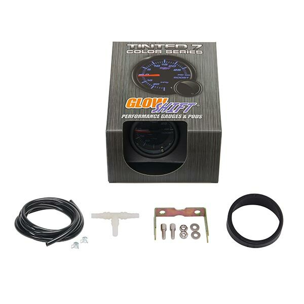 GlowShift Tinted 7 Color 30 PSI Turbo Boost/Vacuum Gauge Unboxed