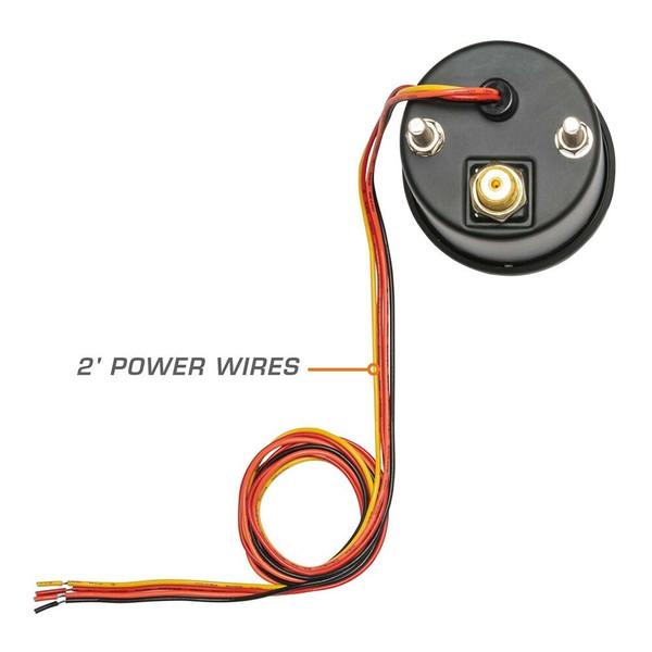 7 Color Series Air Pressure Wiring & Back of Gauge