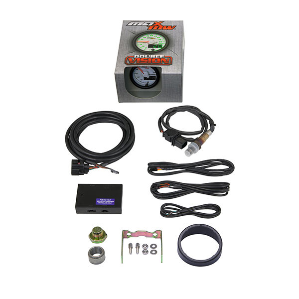 White & Green MaxTow Wideband Air/Fuel Ratio Gauge Unboxed