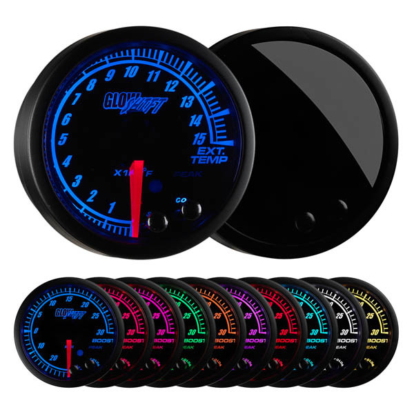 Elite 10 Color 1500 Degree F Pyrometer EGT Gauge