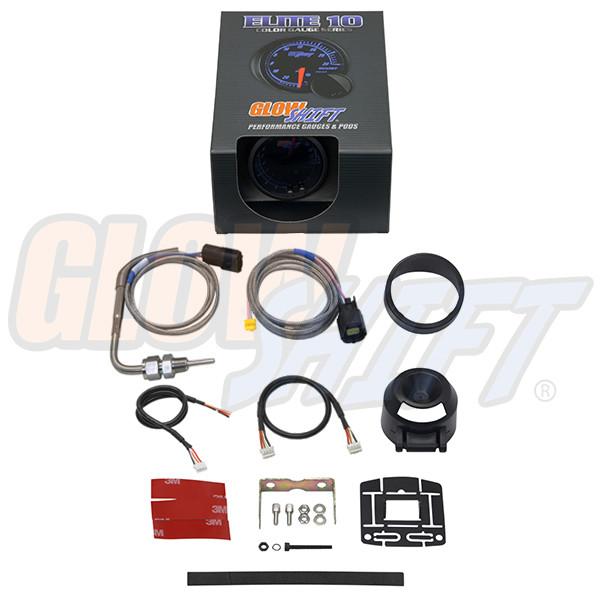 GlowShift Elite 10 Color 1500° F Exhaust Gas Temperature Gauge Unboxed