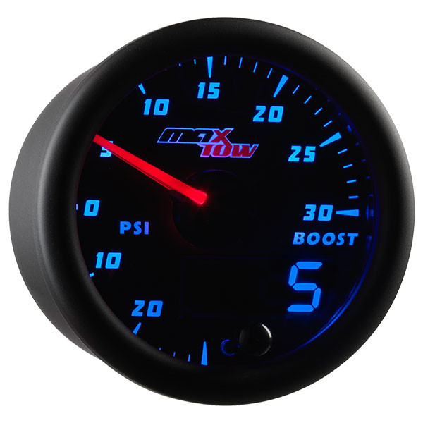 Black & Blue MaxTow 30 PSI Boost/Vacuum Gauge