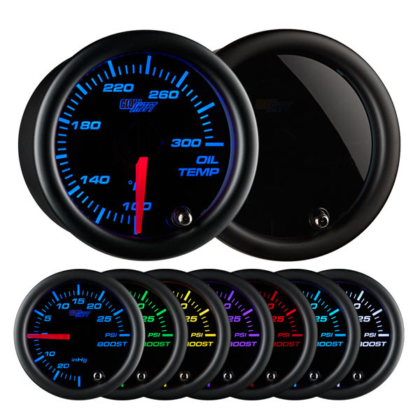 Tinted 7 Color Oil Temperature Gauge