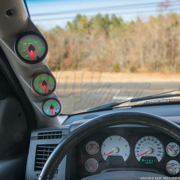2003-2009 Dodge Ram Cummins Taupe Triple Pillar Pod Installed
