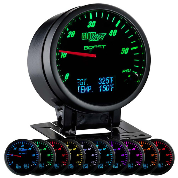 3in1 Black Face Boost w/ Digital Exhaust Temp & Temperature Gauge
