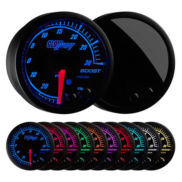 Elite 10 Color 30 PSI Electronic Boost/Vacuum Gauge