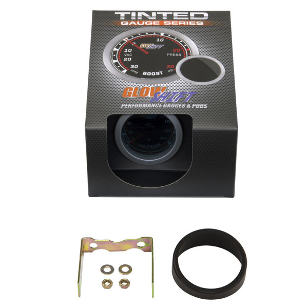 GlowShift Tinted 200 PSI Air Pressure Gauge Unboxed