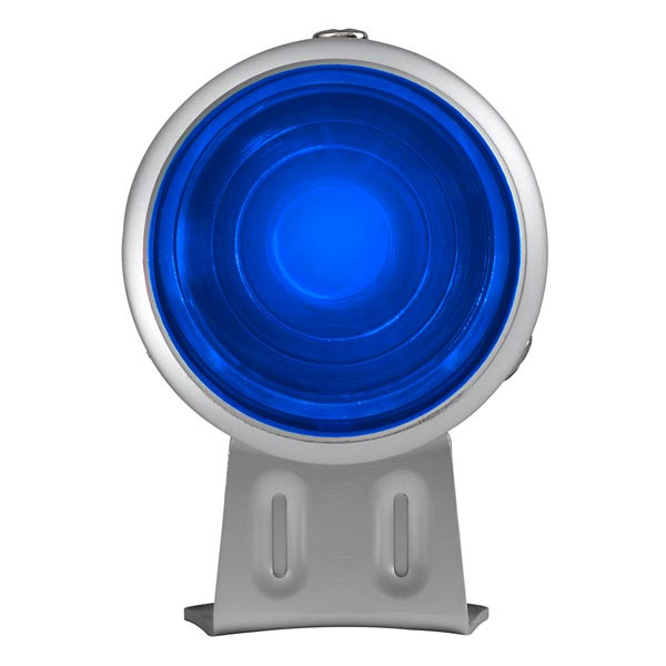 Silver & Blue LED Adjustable Shift Light Straight View