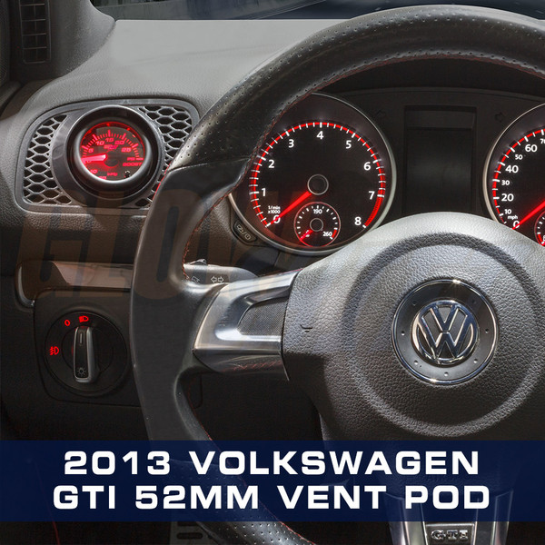 2010-2013 Volkswagen Golf MK6 Driver Vent Single Gauge Pod