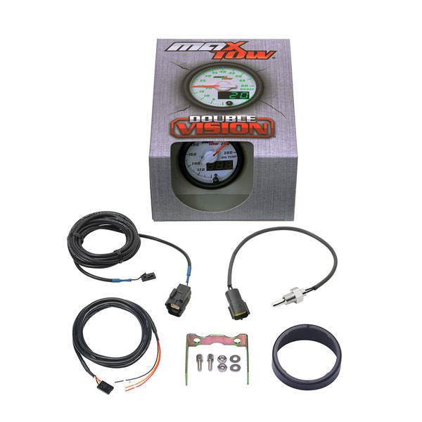 White & Green MaxTow Oil Temperature Gauge Unboxed
