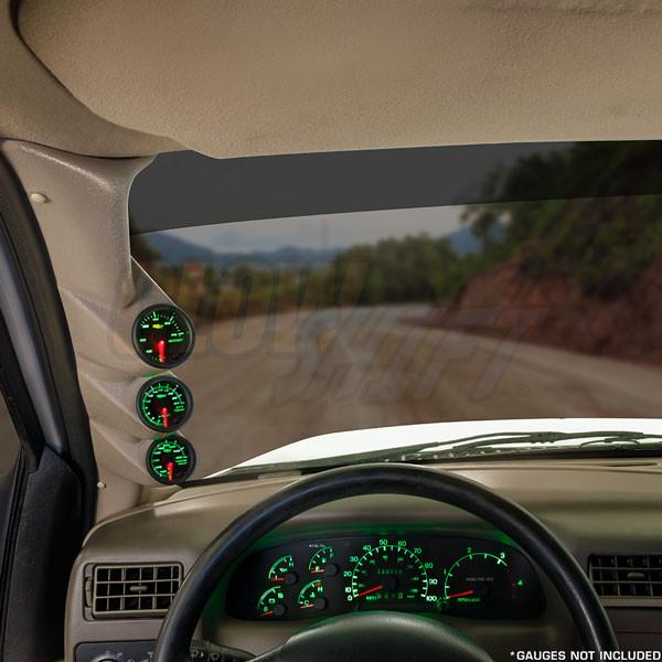 1999-2007 Ford Super Duty Power Stroke Tan Triple Pillar Pod Installed