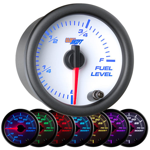 White 7 Color Fuel Level Gauge