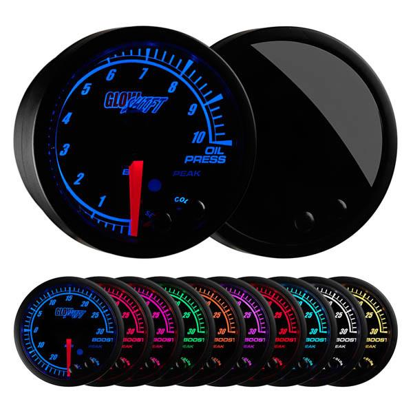 Elite 10 Color BAR Oil Pressure Gauge