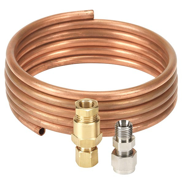 Replacement 6' Copper Hose with Compression Fittings