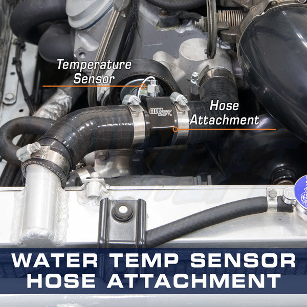 Water Temperature Sensor Hose Attachment Installed