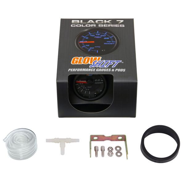 GlowShift Black 7 Color BAR Boost Gauge Unboxed