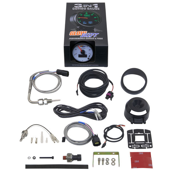GlowShift 3in1 White Face Boost w/ Digital EGT & Temp Gauge Unboxed