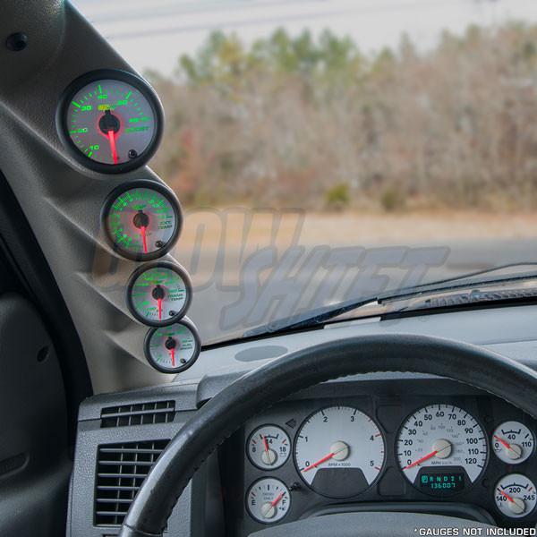 2006-2009 Dodge Ram Cummins Taupe Quad Pillar Pod Installed