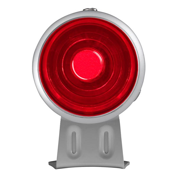 Silver & Red LED Adjustable Shift Light Straight View