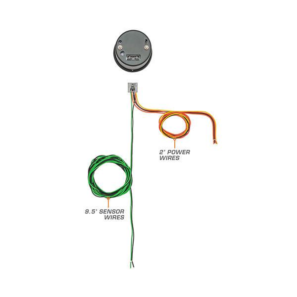 7 Color Series Fuel Rail Pressure Gauge Parts & Wiring Schematic
