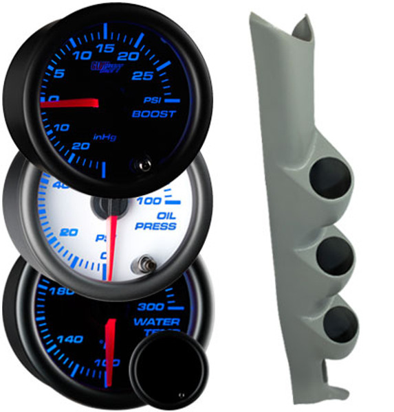 2003-2007 Mitsubishi Lancer Evolution VIII Custom 7 Color Gauge Package Gallery