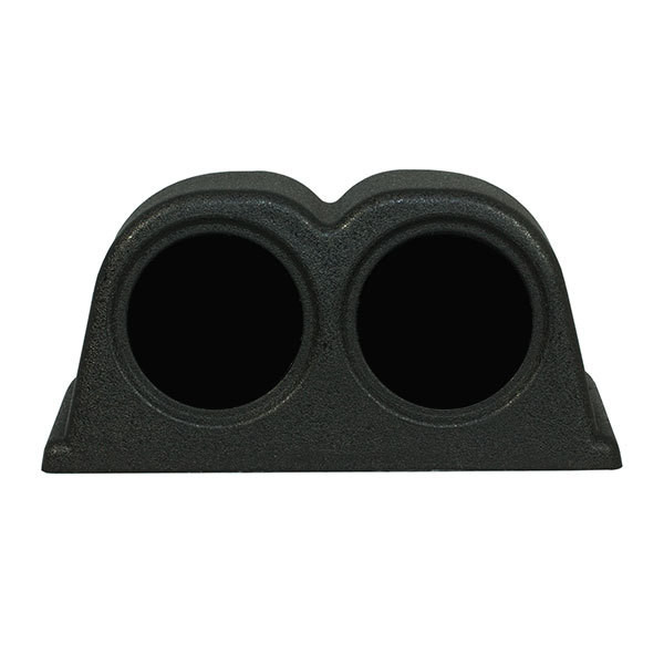Universal Dual Gauge 52mm Dashboard Pod Front View