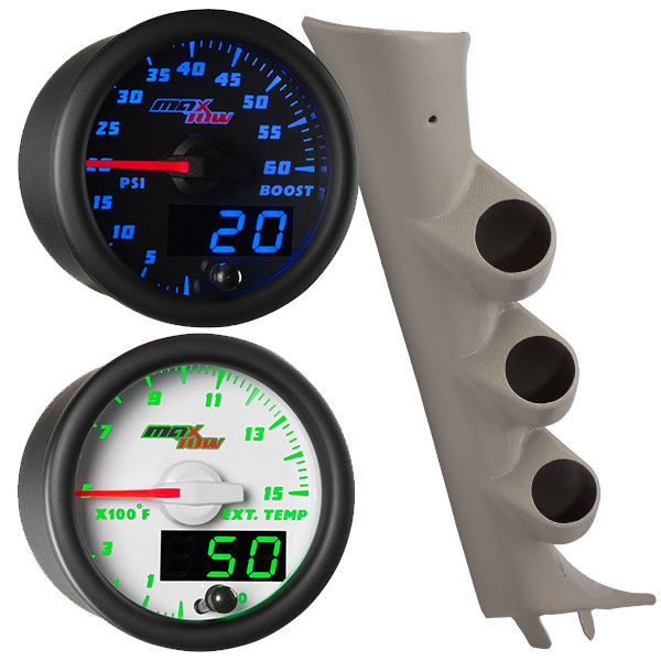 2007-2013 GMC Sierra Duramax Custom MaxTow Gauge Package Gallery