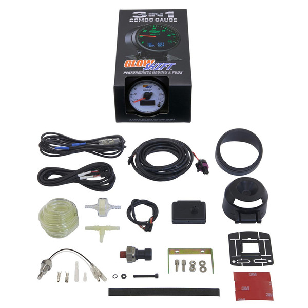 GlowShift 3in1 White Face Boost/Vac w/ Digital Pressure & Temp Gauge Unboxed
