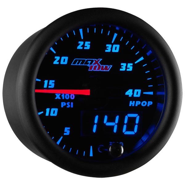 Black & Blue MaxTow High Pressure Oil Pressure HPOP Gauge