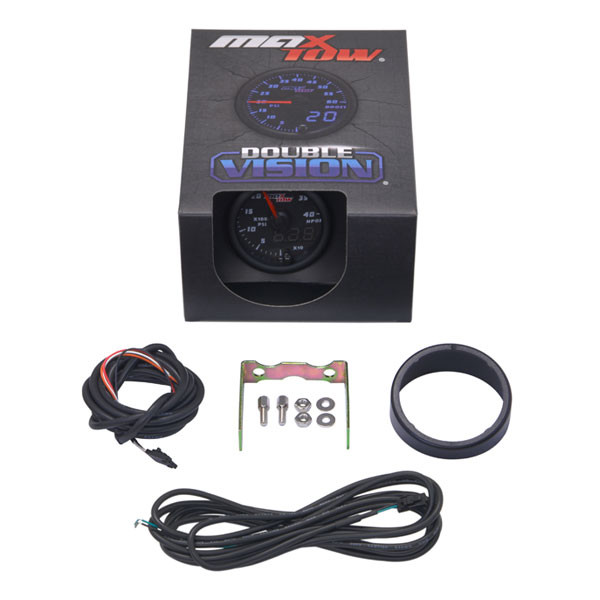 Black & Blue MaxTow High Pressure Oil Pressure HPOP Gauge Unboxed