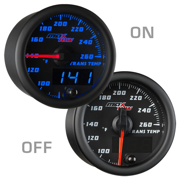 Black & Blue MaxTow 260 Degree Fahrenheit Transmission Temperature Gauge