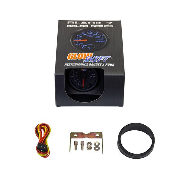 GlowShift Black 7 Color Voltmeter Gauge Unboxed