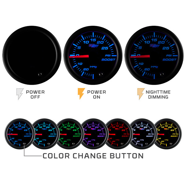 Tinted 7 Color Series Illumination Features