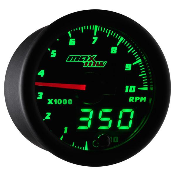 Black & Green MaxTow Tachometer Gauge