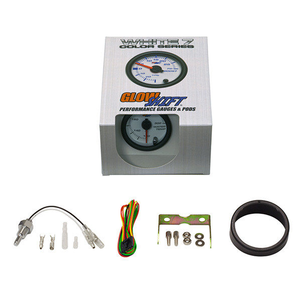 GlowShift White 7 Color Water Temperature Gauge Unboxed