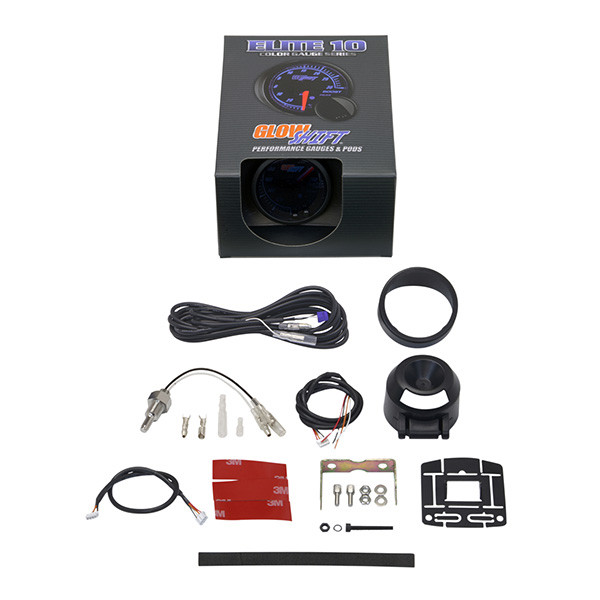 GlowShift Elite 10 Color Water Coolant Temperature Gauge Unboxed