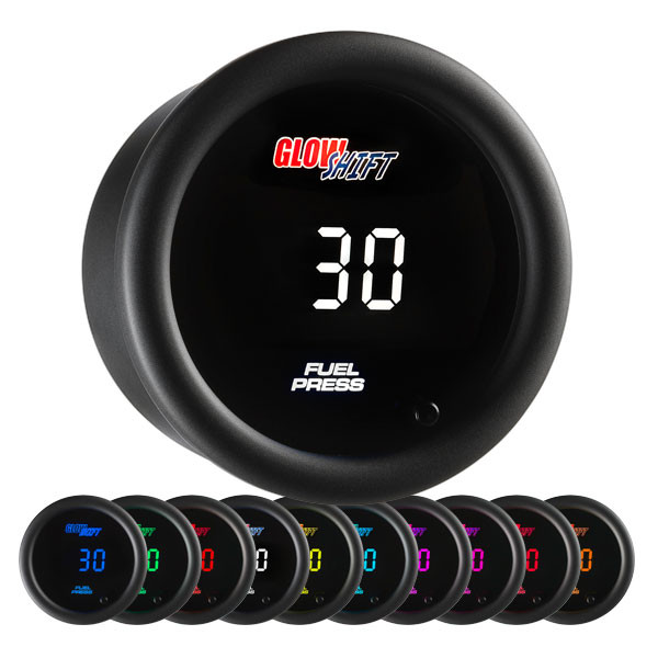 10 Color Digital 30 PSI Fuel Pressure Gauge